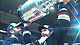 Anaheim Ducks' captain Scott Niedermayer accepts the Stanley Cup and passes it to his brother, Rob.